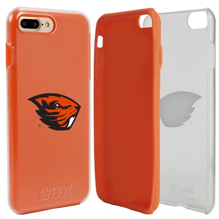 Guard Dog Oregon State Beavers Clear Hybrid Phone Case for iPhone 7 Plus/8 Plus with Guard Glass Screen Protector