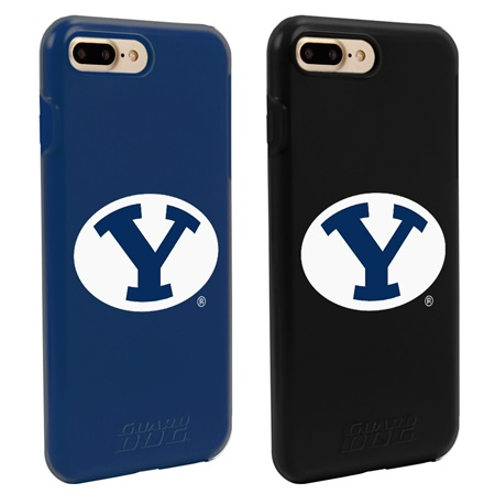 BYU Cougars Fan Pack (2 Cases) for iPhone 7 Plus/8 Plus with Guard Glass Screen Protector