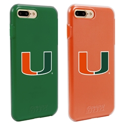 Guard Dog U Miami Hurricanes Fan Pack (2 Phone Cases) for iPhone 7 Plus/8 Plus