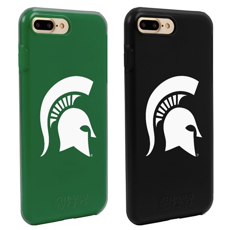 Guard Dog Michigan State Spartans Fan Pack (2 Phone Cases) for iPhone 7 Plus/8 Plus with Guard Glass Screen Protector