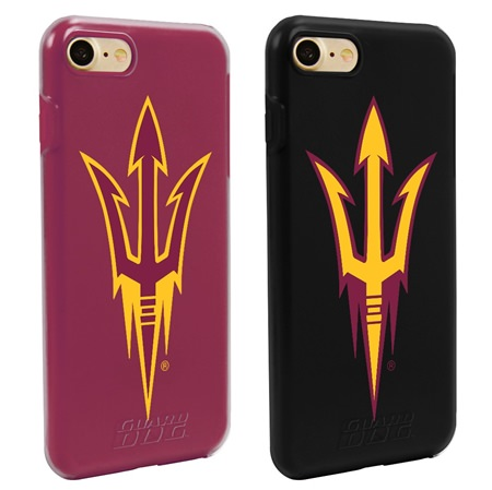 Guard Dog Arizona State Sun Devils Fan Pack (2 Phone Cases) for iPhone 7/8 with Guard Glass Screen Protector