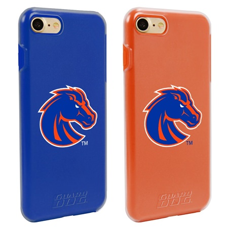 Boise State Broncos Fan Pack (2 Cases) for iPhone 7/8 with Guard Glass Screen Protector