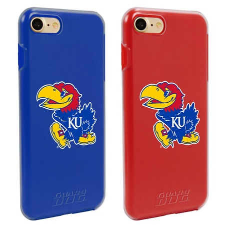 Guard Dog Kansas Jayhawks Fan Pack (2 Phone Cases) for iPhone 7/8 with Guard Glass Screen Protector