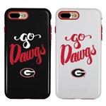 Guard Dog Georgia Bulldogs Go Dawgs Hybrid Phone Case for iPhone 7 Plus/8 Plus with Guard Glass Screen Protector
