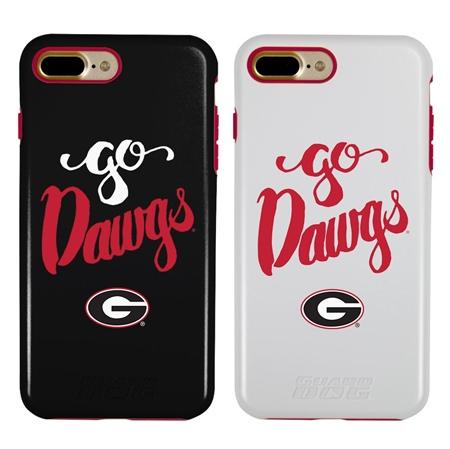 Georgia Bulldogs Go Dawgs Hybrid Case for iPhone 7 Plus/8 Plus with Guard Glass Screen Protector