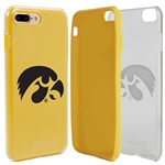 Guard Dog Iowa Hawkeyes Clear Hybrid Phone Case for iPhone 7 Plus/8 Plus with Guard Glass Screen Protector