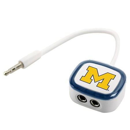 Michigan Wolverines 2-Way Earbud Splitter