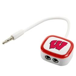 "Wisconsin Badgers ""W"" 2-Way Earbud Splitter"