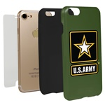 US ARMY Logo Hybrid Case for iPhone 7/8 with Guard Glass Screen Protector