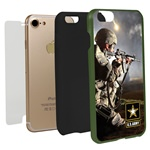 US ARMY Full Print Hybrid Case for iPhone 7/8 with Guard Glass Screen Protector