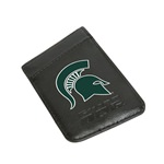 Michigan State Spartans Card Keeper Leather Phone Wallet with RFID Protection