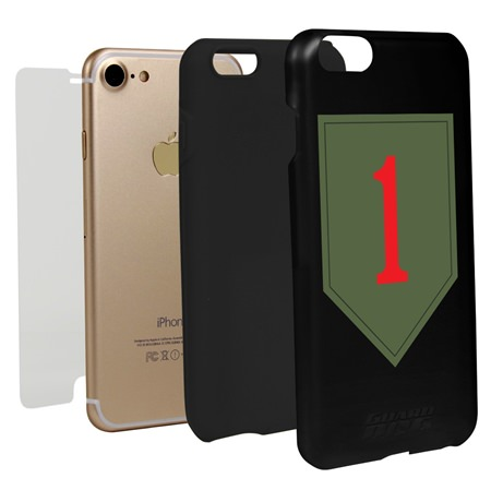 1st Infantry Division Hybrid Case for iPhone 7/8 with Guard Glass Screen Protector