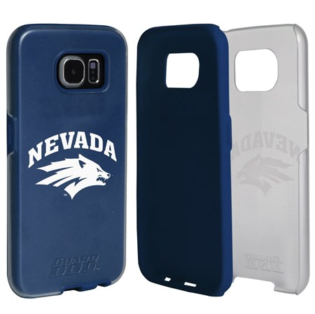 Guard Dog Nevada Wolf Pack Clear Hybrid Phone Case for Samsung Galaxy S7 with Guard Glass Screen Protector