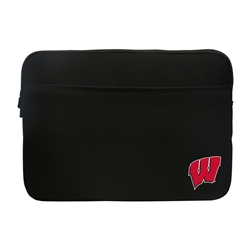 "Wisconsin Badgers ""W"" Premium Laptop & Tablet Sleeve 14/15"""