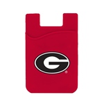 Georgia Bulldogs Silicone Card Keeper Phone Wallet