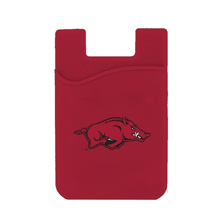 Arkansas Razorbacks Silicone Card Keeper Phone Wallet