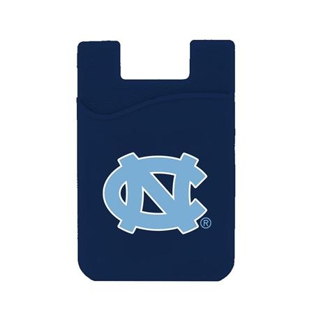 North Carolina Tar Heels Silicone Card Keeper Phone Wallet