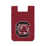South Carolina Gamecocks Silicone Card Keeper Phone Wallet