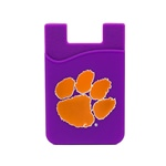 Clemson Tigers Silicone Card Keeper Phone Wallet