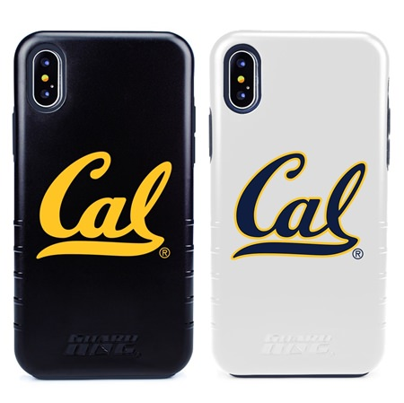 Guard Dog Cal Berkeley Golden Bears Hybrid Phone Case for iPhone X / Xs with Guard Glass Screen Protector