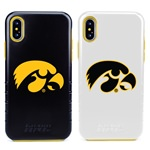 Guard Dog Iowa Hawkeyes Hybrid Phone Case for iPhone X / Xs with Guard Glass Screen Protector