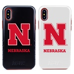 Guard Dog Nebraska Cornhuskers Hybrid Phone Case for iPhone X / Xs with Guard Glass Screen Protector