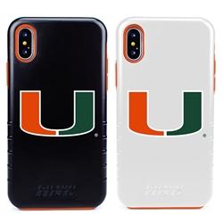 Guard Dog U Miami Hurricanes Hybrid Phone Case for iPhone X / Xs