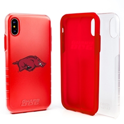 Guard Dog Arkansas Razorbacks Clear Hybrid Phone Case for iPhone X / Xs