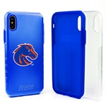 Boise State Broncos Clear Hybrid Case for iPhone X / Xs with Guard Glass Screen Protector
