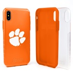 Guard Dog Clemson Tigers Clear Hybrid Phone Case for iPhone X / Xs