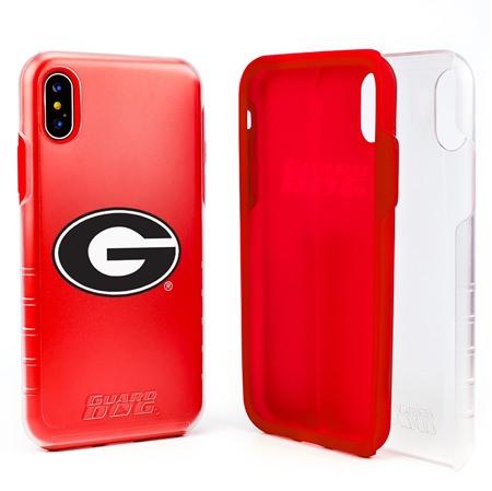 Guard Dog Georgia Bulldogs Clear Hybrid Phone Case for iPhone X / Xs