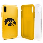 Guard Dog Iowa Hawkeyes Clear Hybrid Phone Case for iPhone X / Xs with Guard Glass Screen Protector