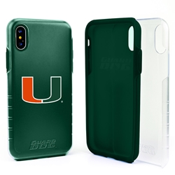Guard Dog U Miami Hurricanes Clear Hybrid Phone Case for iPhone X / Xs