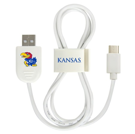 Kansas Jayhawks USB-C Cable with QuikClip