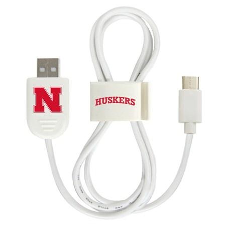 Nebraska Cornhuskers USB-C Cable with QuikClip