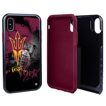 Guard Dog Arizona State Sun Devils PD Spirit Hybrid Phone Case for iPhone X / Xs with Guard Glass Screen Protector