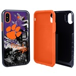 Guard Dog Clemson Tigers PD Spirit Hybrid Phone Case for iPhone X / Xs