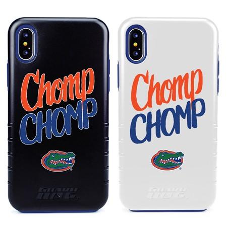 Guard Dog Florida Gators Chomp Chomp Hybrid Phone Case for iPhone X / Xs with Guard Glass Screen Protector