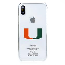 Guard Dog U Miami Hurricanes Clear Phone Case for iPhone X / Xs