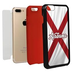 Guard Dog Alabama State Flag Hybrid Phone Case for iPhone 7 Plus / 8 Plus
