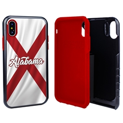 Guard Dog Alabama State Flag Hybrid Phone Case for iPhone X / Xs