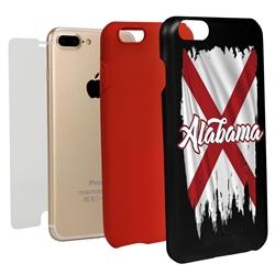 Guard Dog Alabama Torn State Flag Hybrid Phone Case for iPhone 7 Plus / 8 Plus