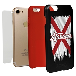 Guard Dog Alabama Torn State Flag Hybrid Phone Case for iPhone 7/8/SE