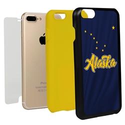 Guard Dog Alaska State Flag Hybrid Phone Case for iPhone 7 Plus / 8 Plus