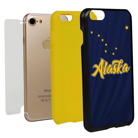 Guard Dog Alaska State Flag Hybrid Phone Case for iPhone 7/8/SE