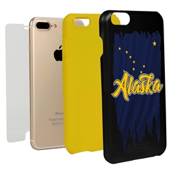 Guard Dog Alaska Torn State Flag Hybrid Phone Case for iPhone 7 Plus / 8 Plus