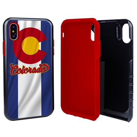 Guard Dog Colorado State Flag Hybrid Phone Case for iPhone X / Xs