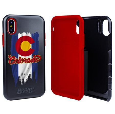 Colorado Torn State Flag Hybrid Case for iPhone X / Xs