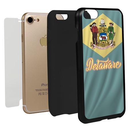 Delaware State Flag Hybrid Case for iPhone 7 / 8