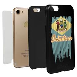 Guard Dog Delaware Torn State Flag Hybrid Phone Case for iPhone 7/8/SE